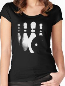 bowling study Women's Fitted Scoop T-Shirt