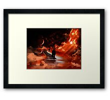 Music in space Framed Print