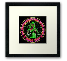 Bad Mofo from Outer Space Colour Framed Print
