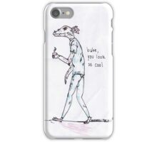 rad dragon dude looking cool with the 1975 lyrics iPhone Case/Skin