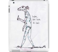 rad dragon dude looking cool with the 1975 lyrics iPad Case/Skin
