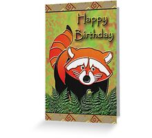 Happy Birthday Red Panda Greeting Card