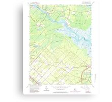 USGS TOPO Map New Jersey NJ Green Bank 254428 1956 24000 Canvas Print