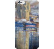 Reflections, Scalloway harbour iPhone Case/Skin