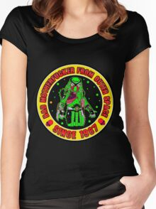 Bad Mofo from Outer Space Colour 2 Women's Fitted Scoop T-Shirt