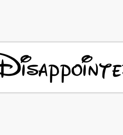 Disappointed Sticker