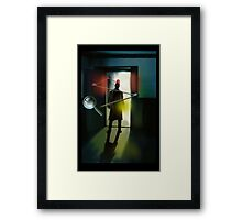 The Inspector is in. Framed Print