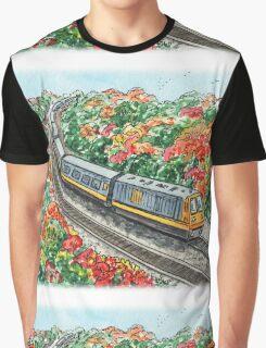Train Illustration Graphic T-Shirt