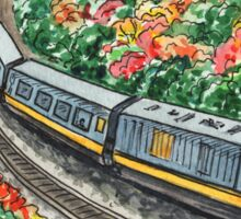 Train Illustration Sticker