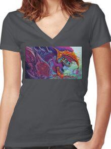 Hyper Beast  Women's Fitted V-Neck T-Shirt