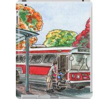 Red Bus Illustration iPad Case/Skin