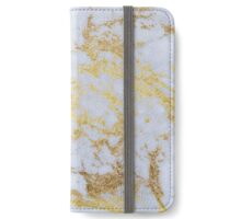 Awesome trendy modern faux gold glitter marble iPhone Wallet/Case/Skin