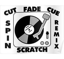 Turntable Record DJ Speak Poster
