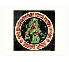 Bad Mofo from Outer Space Vintage Art Print