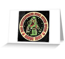 Bad Mofo from Outer Space Vintage Greeting Card