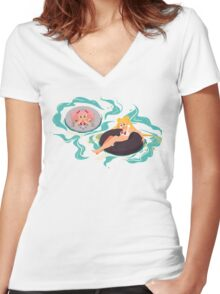Moon Babes Women's Fitted V-Neck T-Shirt
