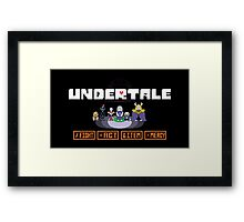 Undertale - Action Buttons Framed Print