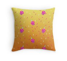 Cupcakes AND sprinkles! Throw Pillow