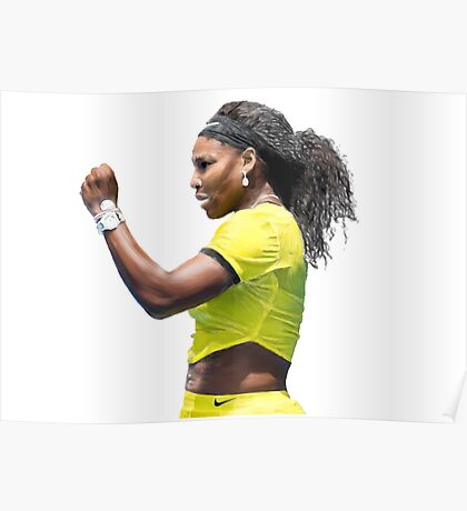 Digital Painting of Serena Williams Poster