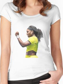 Digital Painting of Serena Williams Women's Fitted Scoop T-Shirt