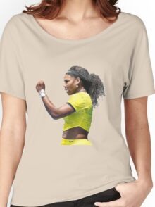Digital Painting of Serena Williams Women's Relaxed Fit T-Shirt