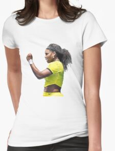 Digital Painting of Serena Williams Womens Fitted T-Shirt