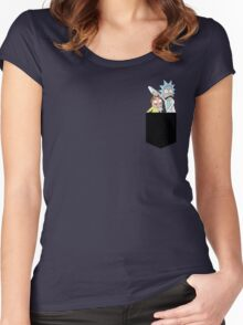 Rick and Morty Pocket Tees Women's Fitted Scoop T-Shirt