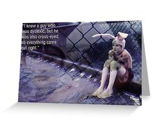 Bunny Head Greeting Card