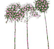 Standard Flower Trees 1 by Emily Bieman