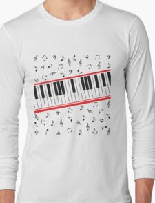 Piano Keys (light colors only) Long Sleeve T-Shirt