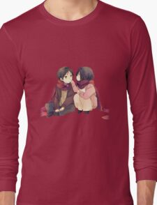 attack on titan misaka and eren cute together Long Sleeve T-Shirt