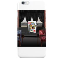 Playing with the King of Hearts at Open Mic Night iPhone Case/Skin