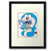 Doraemon Read Comic Book Framed Print