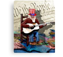 Uncle Sam's Rockin' & Pickin' Canvas Print