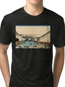 Japanese Print:  Edo Bridge Tri-blend T-Shirt