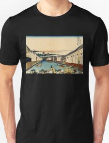 Japanese Print:  Edo Bridge Unisex T-Shirt