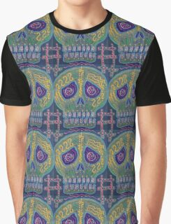 Great Electric Skull Graphic T-Shirt