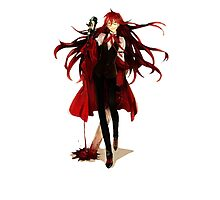 grell loves his blood Photographic Print