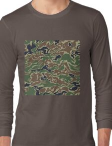 CAMOUFLAGE-WOODLAND Long Sleeve T-Shirt