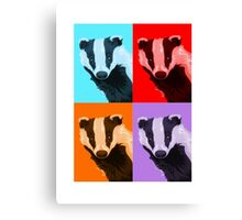 Badger Squares Canvas Print