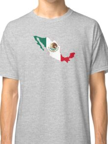 Flag Map of Mexico  Classic T-Shirt