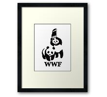 Panda WWF Framed Print