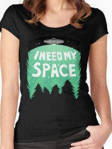 I Need My Space (Color) Women's Fitted Scoop T-Shirt