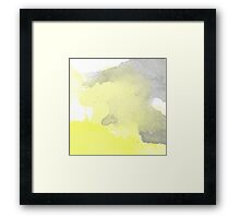 Yellow Watercolor Original Framed Print