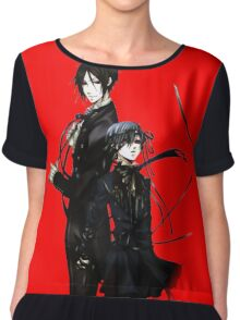 sebastian and ciel back to back  Chiffon Top