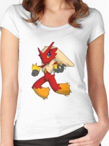 Pokemon Blaziken Chibi Women's Fitted Scoop T-Shirt