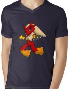 Pokemon Blaziken Chibi Mens V-Neck T-Shirt