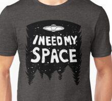 I Need My Space (Black + White) Unisex T-Shirt