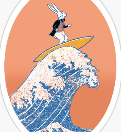 White Rabbit Surfing Sticker