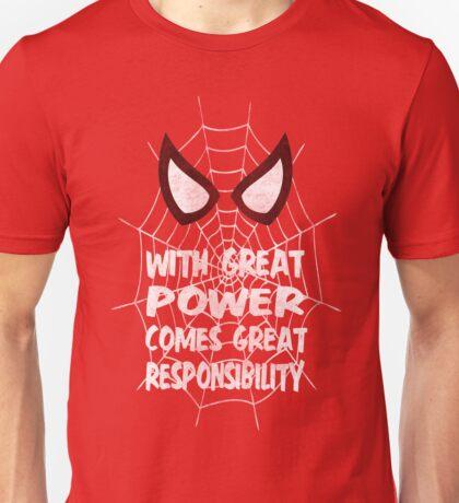 Spiderman Quote Unisex T-Shirt